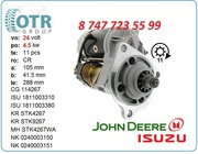 Стартер John deere 225c 1-81100-338-1